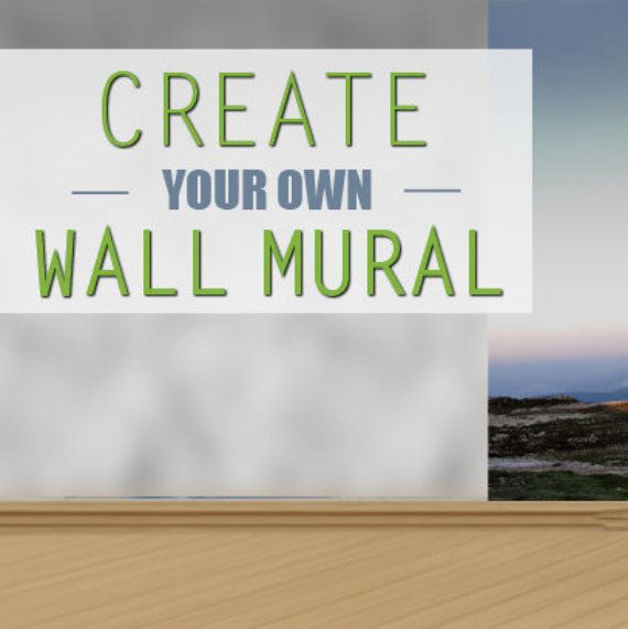 Elegant Create Your Own Wall Mural Custom Wall Mural By 4KdesignWall Good Ideas