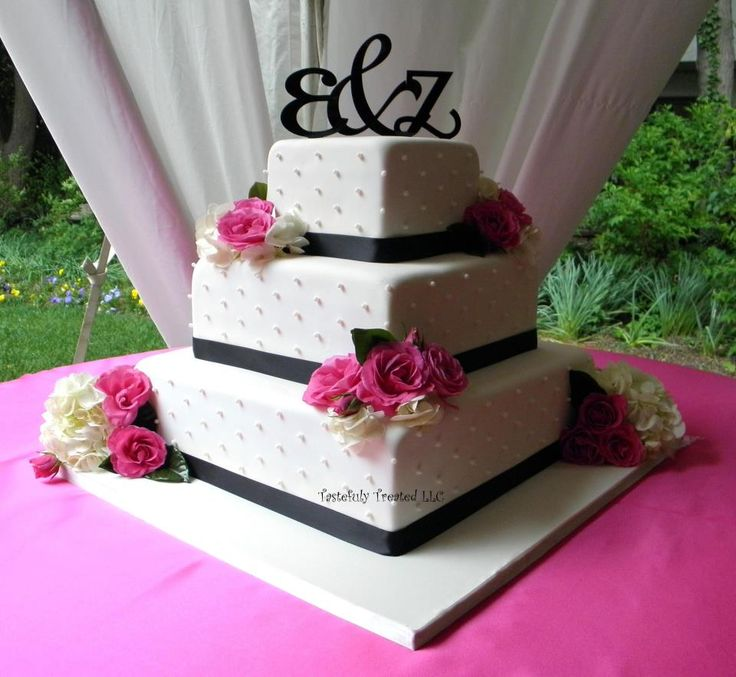 Pink And Black Wedding Ideas: Pink And Black Wedding Cake