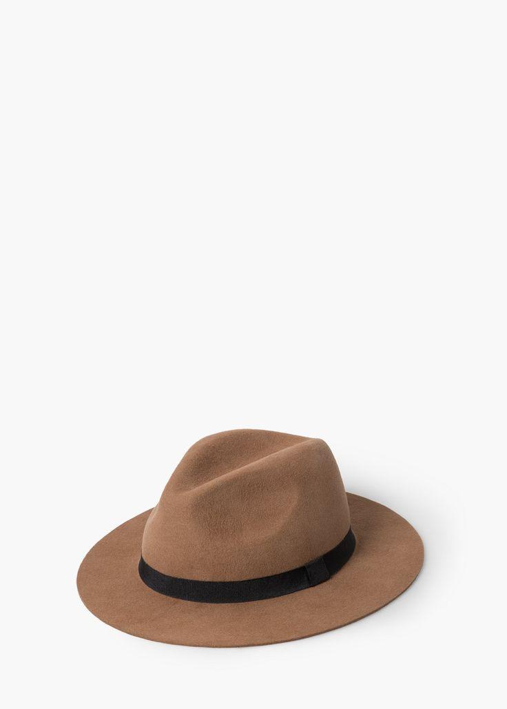 Chapéu fedora lã - Mais acessórios de Mulher | MANGO
