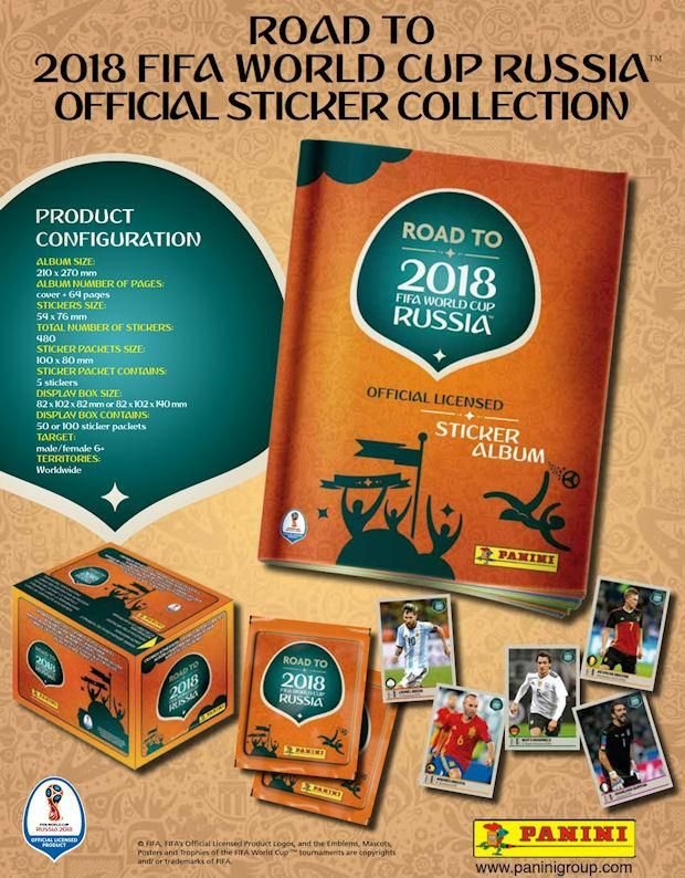 d088e9181 Panini Road to 2018 FIFA World Cup Russia Stickers - 5 Packs of Stickers  and Album | Products | Fifa world cup, World cup, World