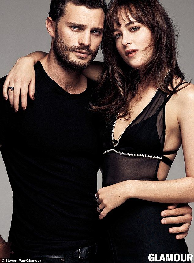 Cover stars: Fifty Shades Of Grey co-stars Jamie Dornan and Dakota Johnson have given fans a glimpse into their more playful side thanks to a new video interview with UK Glamour magazine
