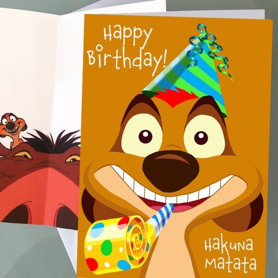 Lion King Timon Disney Anime Cartoon Birthday Cards Funny Birthday Cards Baby Shower Cards Baby Show Funny Birthday Cards Lion King Birthday Birthday Humor