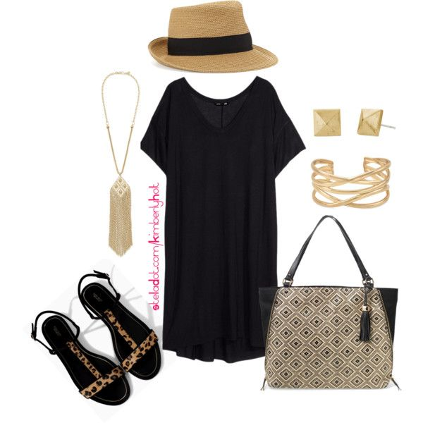 Summer Black - Plus Size, created by kimberly-holt on Polyvore