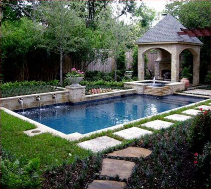 Landscaped Backyards With Pools: 176 Best Images About Project Backyard On Pinterest