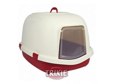 #Trixie Primo XL #Katzentoilette mit Haube bordeaux creme