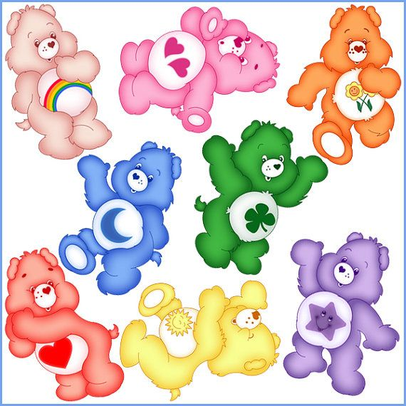 INSTANT DOWNLOAD Care Bears Birthday Centerpiece - Digital File - for Care Bears party
