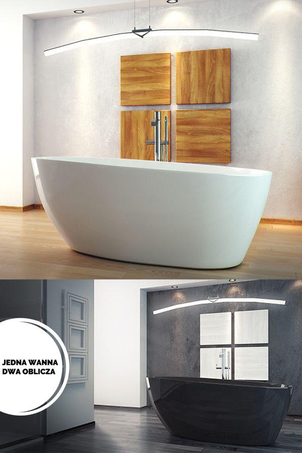 Wanna Wolnostojaca Z Odlewu Naturalnych Kamieni Zywicy Besco Goya Czarna Lub Biala Bathroom Bathtub
