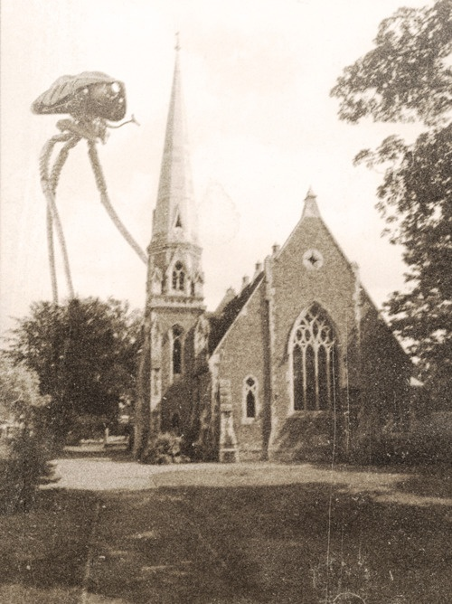 #LucyReynolds, 'Tripod over Weybridge'  Taken by a MR Archibald Cook, Photographed at St James church Weybridge 23rd August 1894
