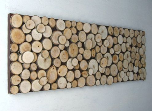 DIY Idea: Wood Slice Wall Art