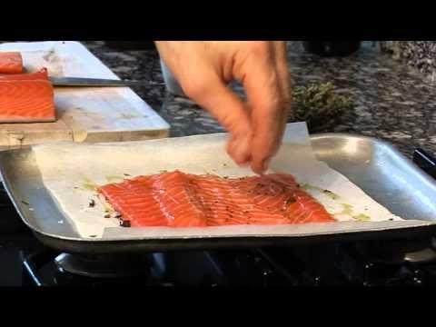 Tom Aikens cooks Salmon baked with Juniper Berries