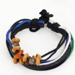 Wooden Beads and Hemp Rope Bracelet