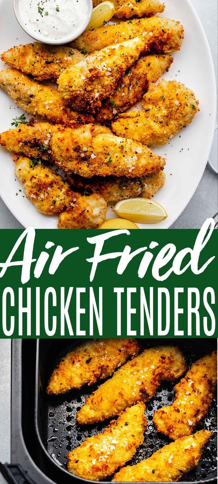 Air Fried Chicken Strips In 2020 Air Fried Chicken Fried Chicken Tenders Air Fried Chicken Tenders