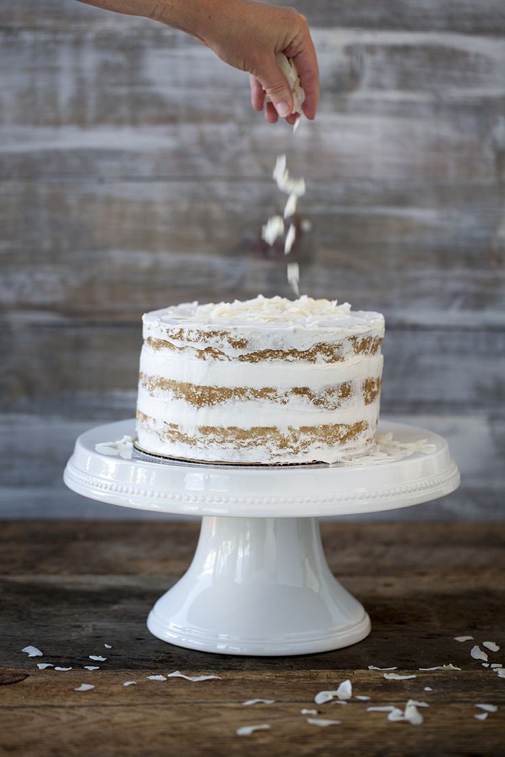 This deliciously different cake is moist and light with a delicate coconut flavor throughout.