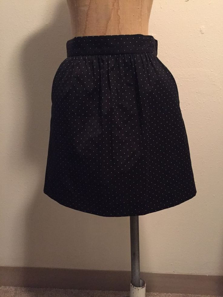Red Valentino Black Mini Dot Skirt Sz EUR 40 US 2 | eBay