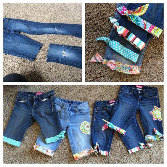 Ideias para Transformar Jeans Velhos em Shorts - http://coisasdamaria.com/ideias-para-transformar-jeans-velhos-em-shorts/