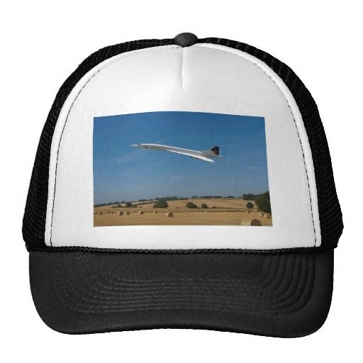 Truckers Hat - Concorde flying over recently harvested wheat fields #aviation #aircraft #clothing #zazzle
