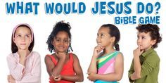 In this Bible game, children are given the opportunity to decide what Jesus would do at their age. Remembering that Jesus never sinned, we'll take turns picking scenarios out of a hat. We'll read the predicament and try to decide what Jesus would do—or what we should do if it happens to us!