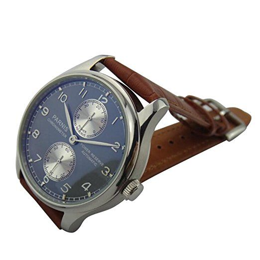 Whatswatch new fashion 43mm PARNIS Automatic mechanical men's watch Business watch watches PA-0035