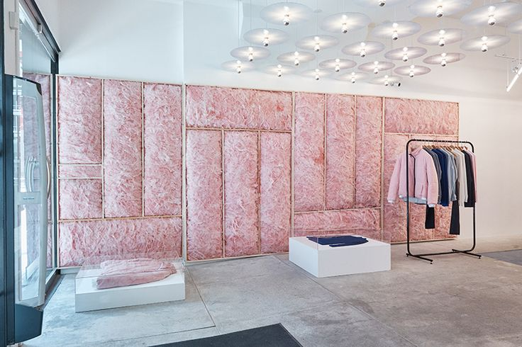 patrik ervell turns opening ceremony store in new york into a cloud of pink fiberglass foam | Netfloor USA