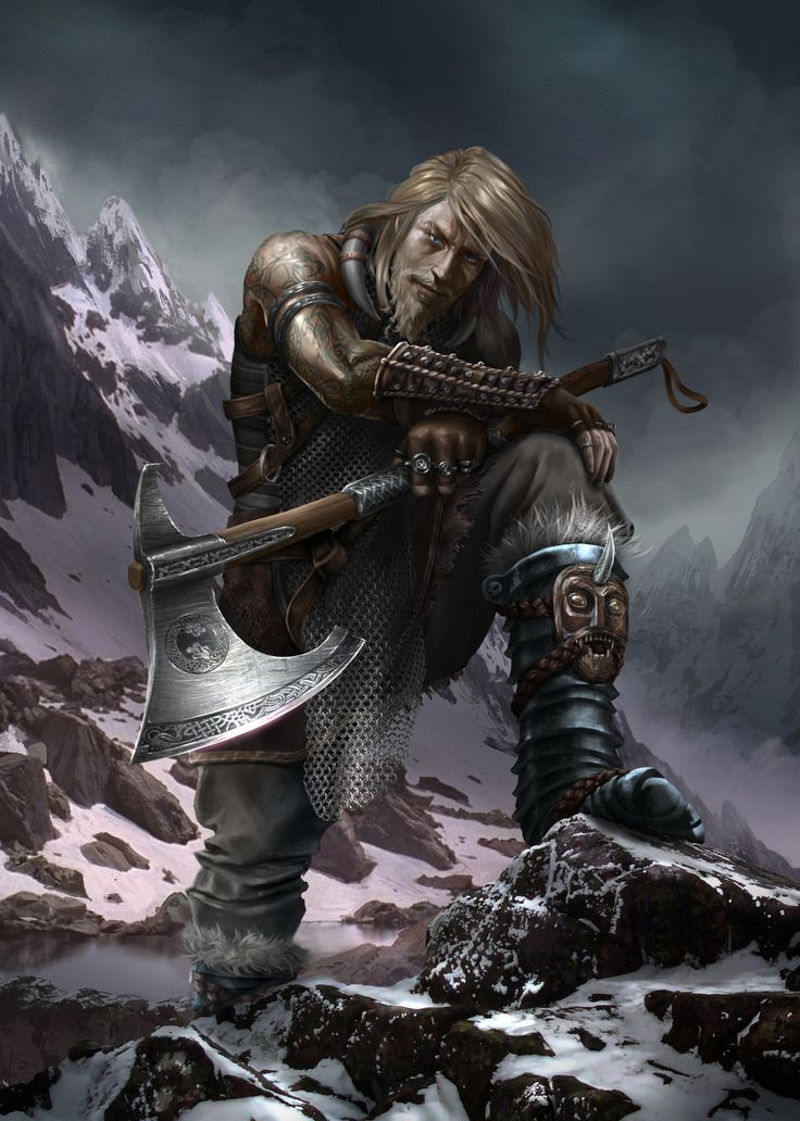 m Barbarian Battle Axe North Eastern Mountains Yghnar Crazy Eyes 30 years - Son of Porvi