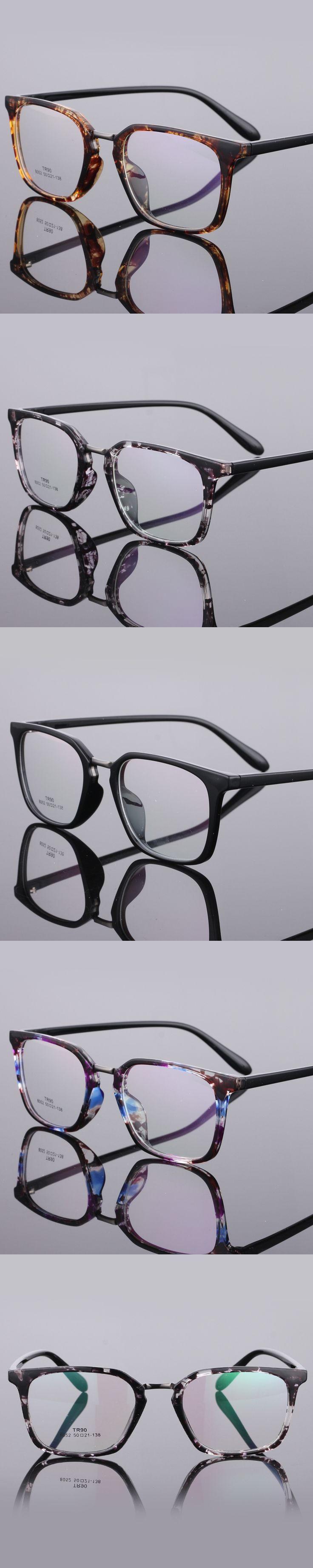 The New TR90 women Glasses frame retro optical clear Full box Eyeglasses frame Men prescription glasses frames 8052
