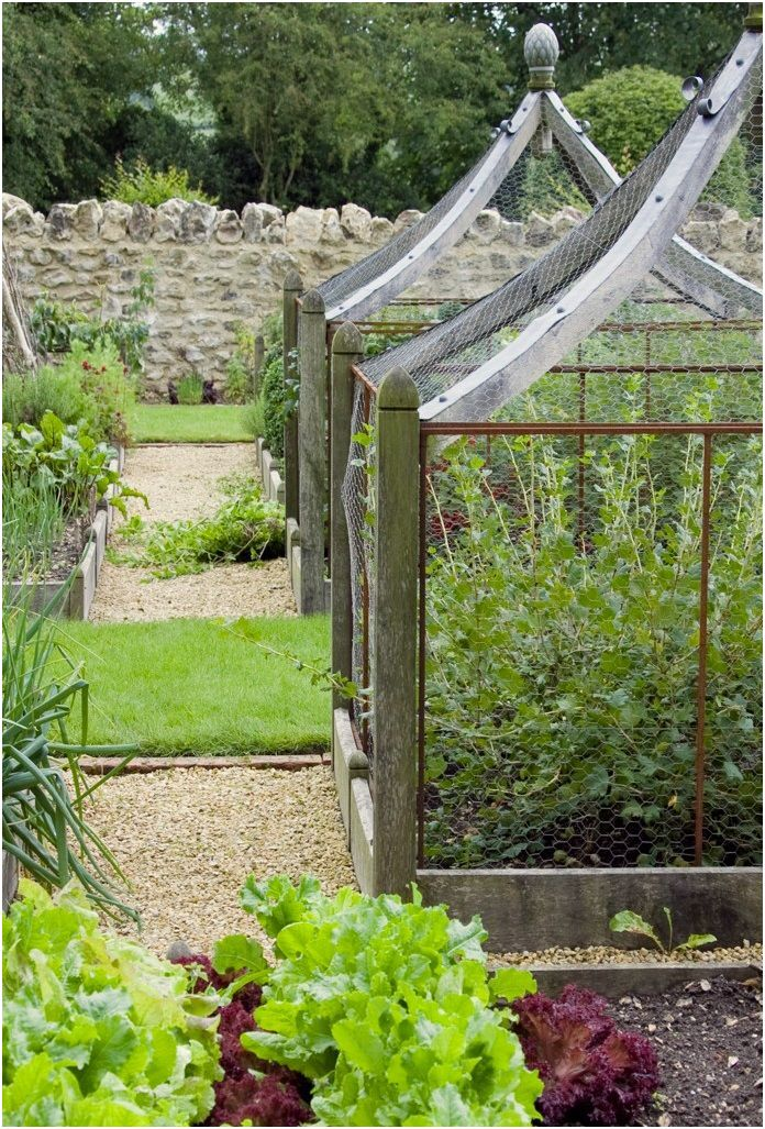 13 Realistic Kitchen Garden Designs Photos Pictures In 2020 Garden Design Veggie Garden Garden Structures