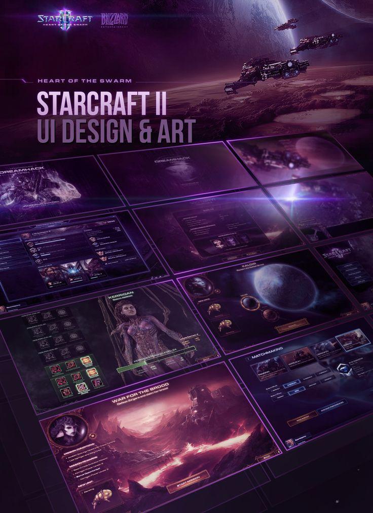 Heart of the Swarm: UI Design & Art on Behance