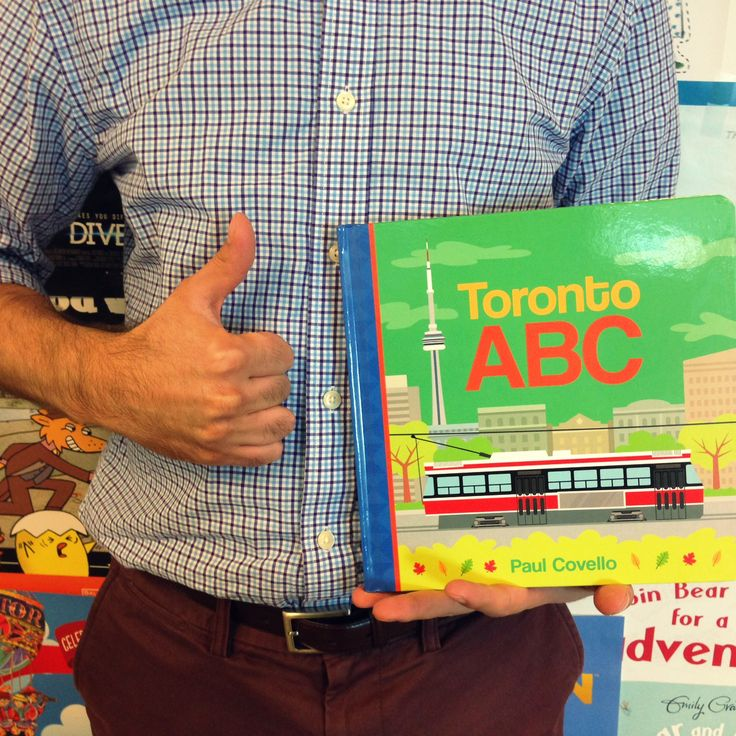 """Paul is thankful for Toronto ABC, because he wrote and illustrated this adorable """"Guide to Toronto""""! A perfect book for young Torontonians as each letter takes them on a new adventure across their city! #ThankYouKidsLit"""