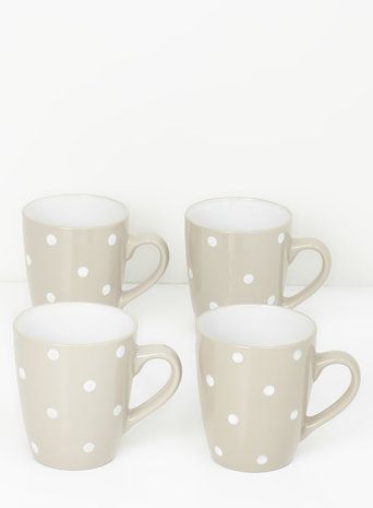 Country Dotty Mug Pack Set of 4