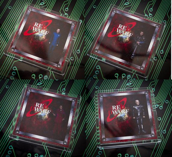 Fantastic Red Dwarf Coasters Different by UnofficiallyOriginal