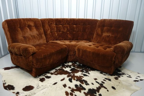 #Retro #Vintage #MidCentury Frayling Modular Brown Corner Sofa >>