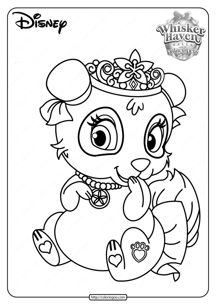 Printable Palace Pets Blossom Pdf Coloring Pages In 2020 Disney Princess Coloring Pages Palace Pets Princess Coloring Pages