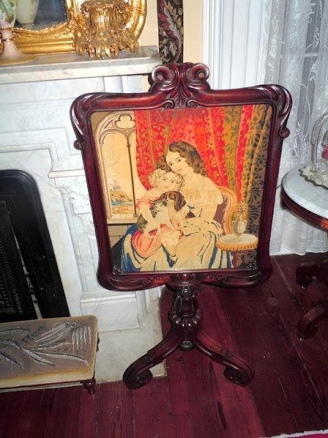 Victorian fireplace screen