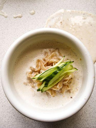 Soymilk soup (콩국수)