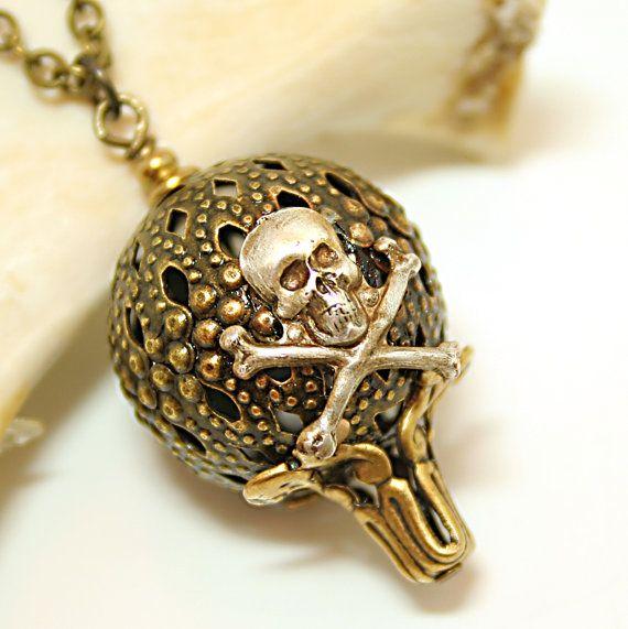 Steampunk Necklace Skull Hot Air Balloon Steampunk by DesignsBloom, $24.99