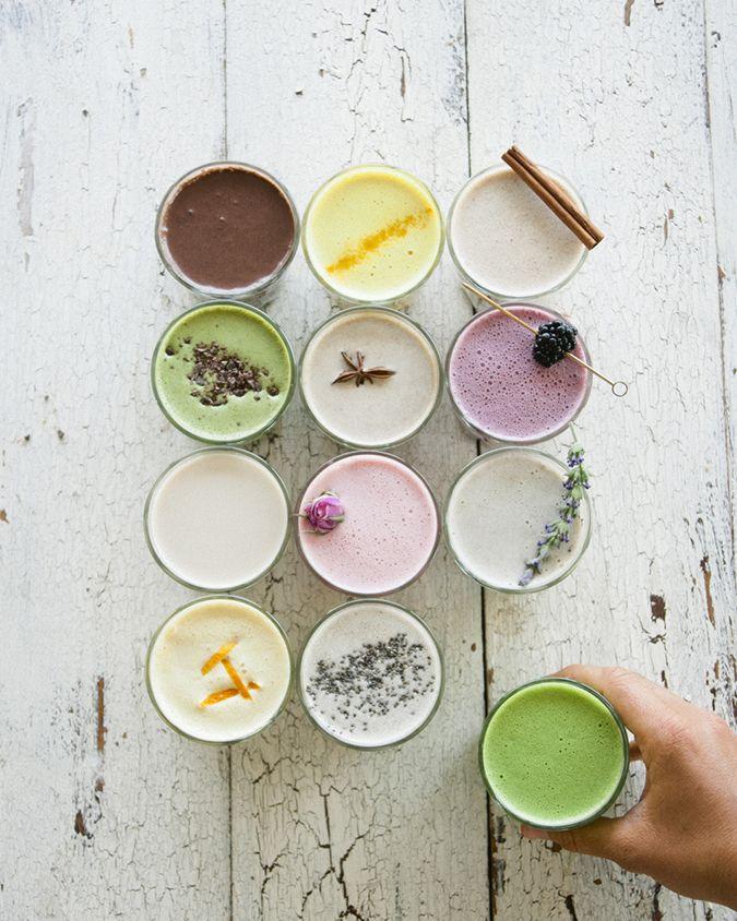 Almond milk, 12 ways via Sweet Laurel