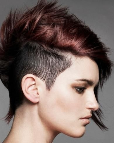 Look mohicano pelo corto bicolor
