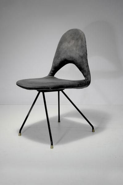 DU 68 Chair, 1954 . Black . Minimal Design | Chair . Stuhl . Chaise