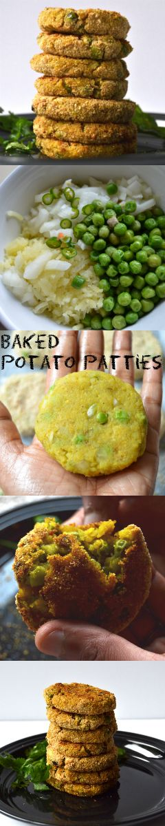 It's Baked Aloo Tikki/ Potato Patties today. Tastes as good as the fried ones and totally guilt free. Have it as an evening snack with piping hot tea or in your veggie burger. You are not going to fry them again!!