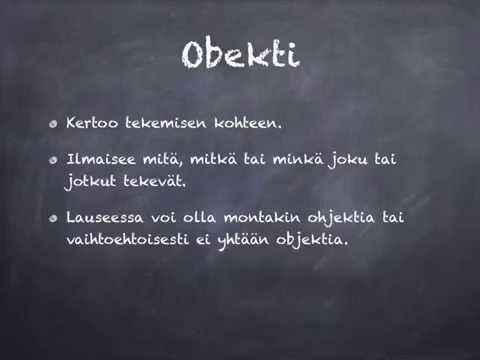 Lauseenjäsenet: objekti - YouTube