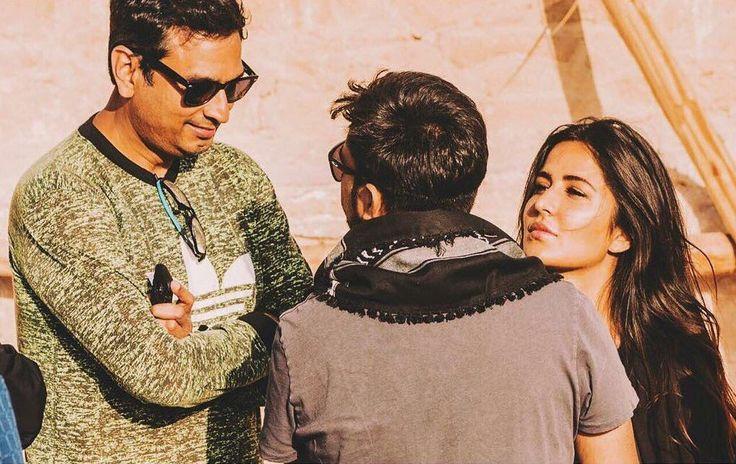 Bollywood Actress Katrina Kaif snapped on the sets of #TigerZindaHai🎥