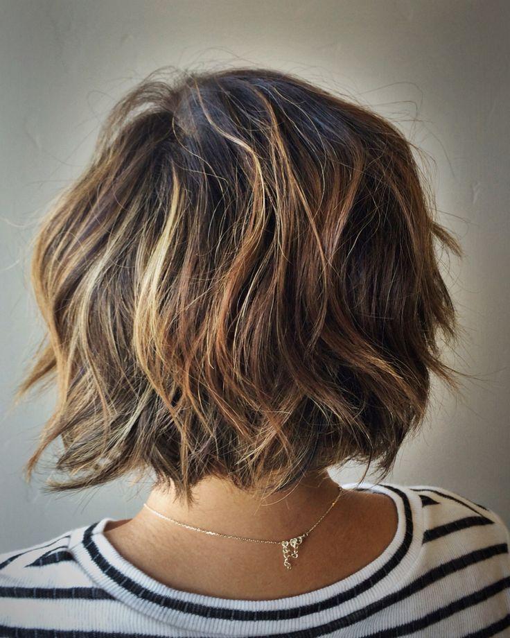 Textured Bob http://scorpioscowl.tumblr.com/post/157435449850/2014-short-hair-with-bangs-short-hairstyles-2017
