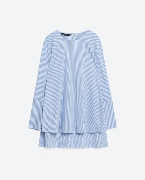 Image 8 of POPLIN STRIPED TUNIC from Zara