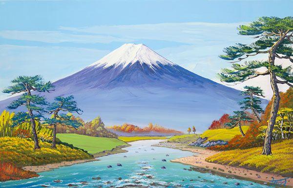 画像1: 実りの秋の富士山