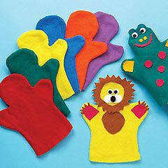 DIY hand puppets