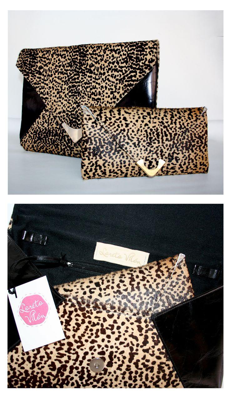 Clutch + Purse - 100% Leather