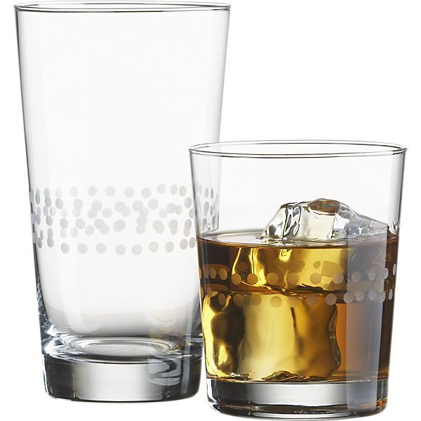 Jojo Glasses in Bar and Drinking Glasses | Crate and Barrel