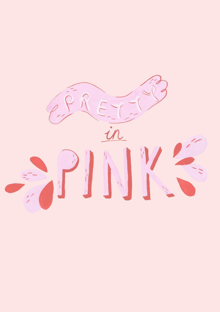 Jessillustrates pretty in pink