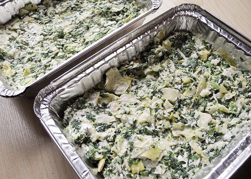 freezable Light Artichoke & Spinach Dip
