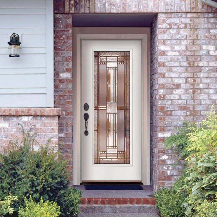 Feather River Doors 37.5 in. x 81.625 in. Preston Patina Full Lite Unfinished Smooth Left-Hand Inswing Fiberglass Prehung Front Door & 25 best doors and shutters images on Pinterest | Shutters ... pezcame.com